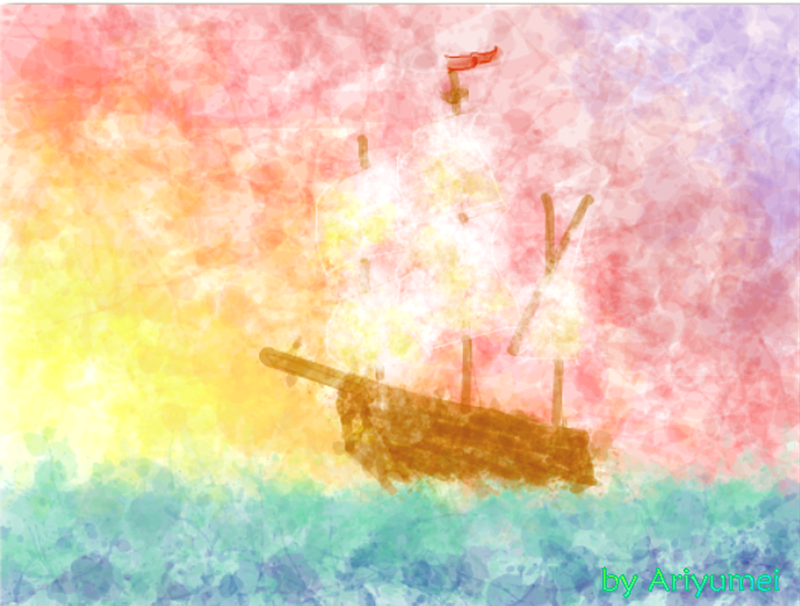 """""""Sailing into the Sunset"""" by ariyumei"""