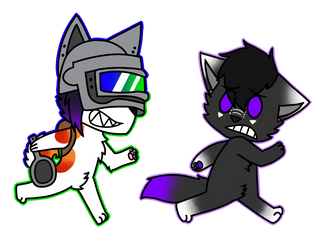 Bonk_Husky :Commission: by FluffyGalaxies