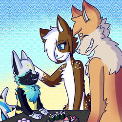 Dinner Time :Commission: by FluffyGalaxies