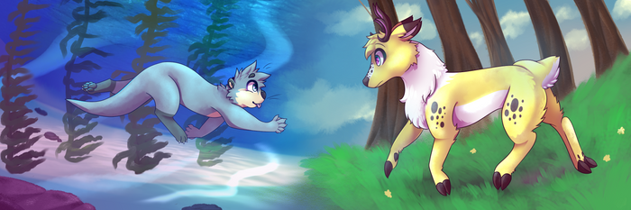 Collabed Commission With SpunkyRacoon for Lutofisk by FluffyGalaxies