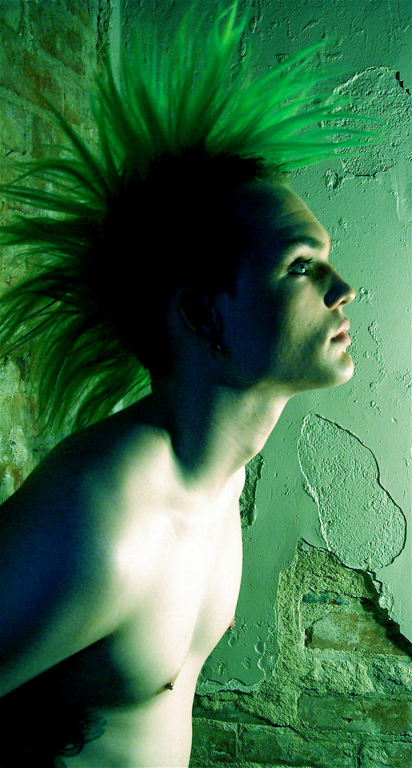 Mohawk III by cstalhei Get Your Punk Out: Bright and Colourful Mohawk Photography