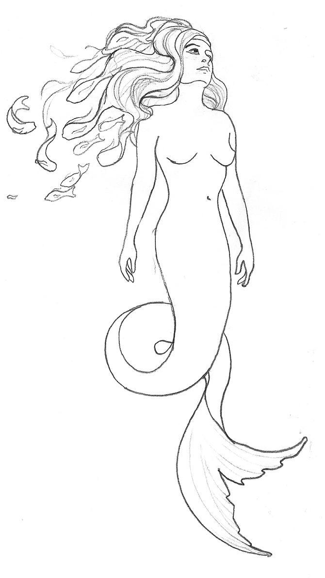 Mermaid Tattoo Design by cstalhei
