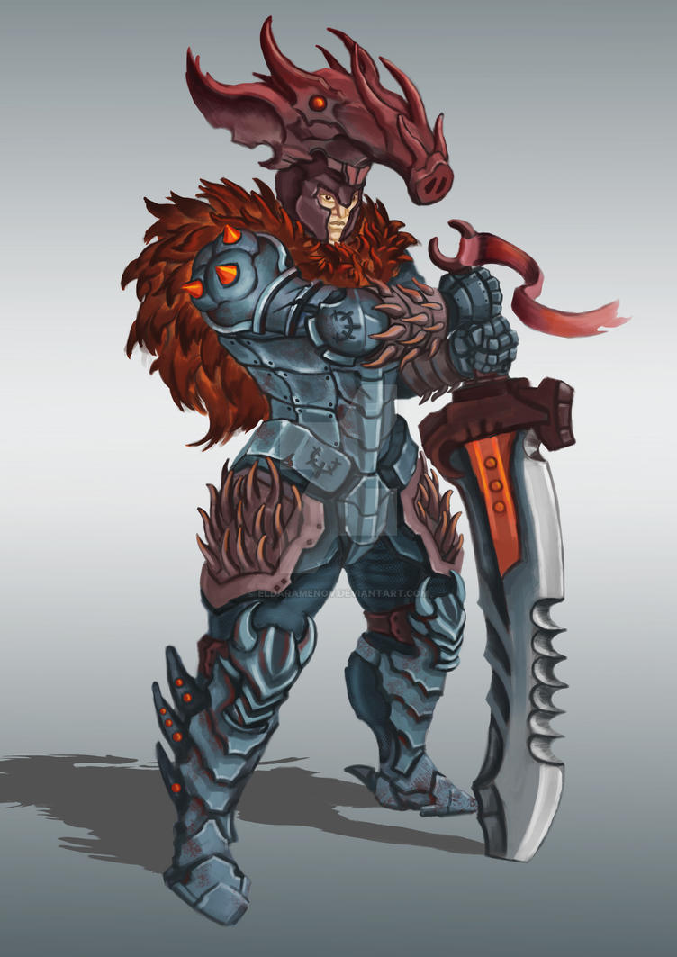 The Knight of the Boar by EldarAmenov