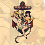 Wine Menu Illustration - Sailor Jerry Inspired by LittleBOYblack