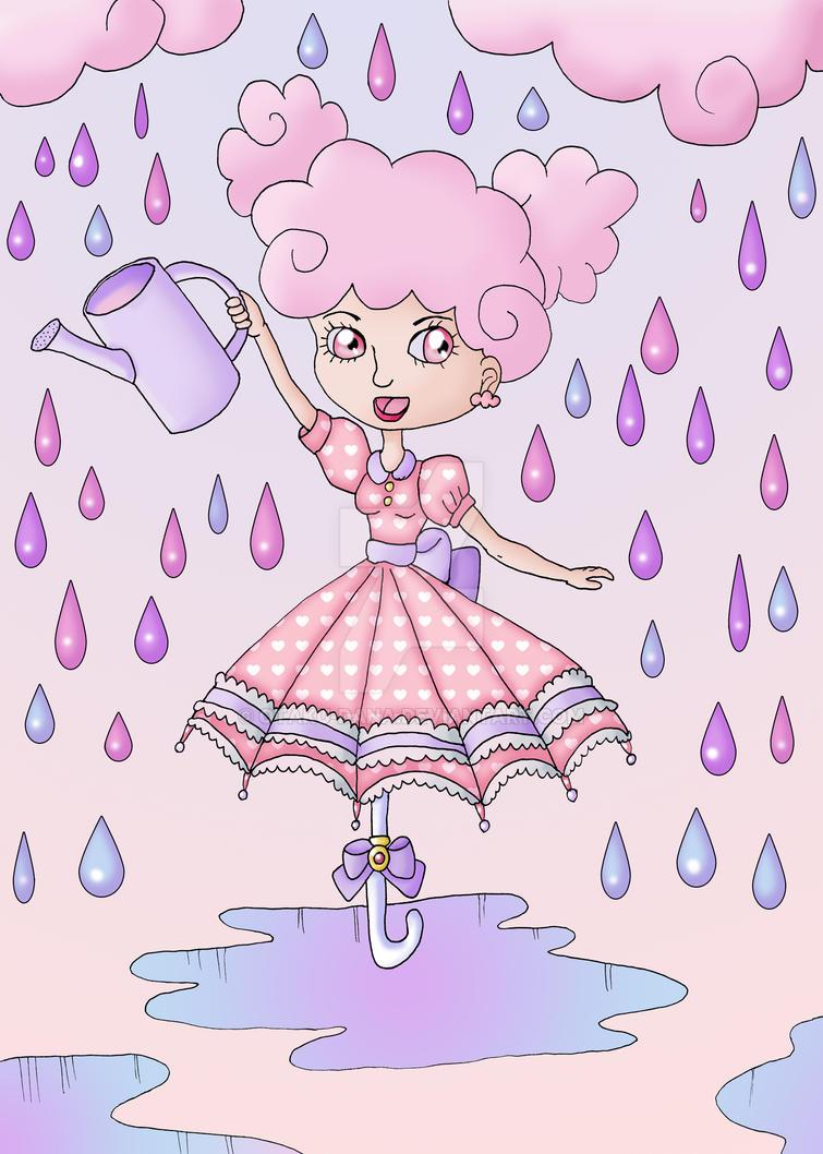 chica paraguas by otaku-dana