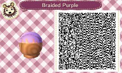 AC:NL QR Braided Purple Hair with Bangs by SihaRakhet