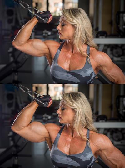 Margita Zamolova - muscle growth - B/A