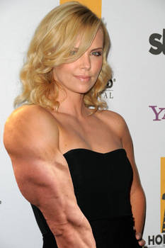 Charlize Theron - celebrity muscle growth