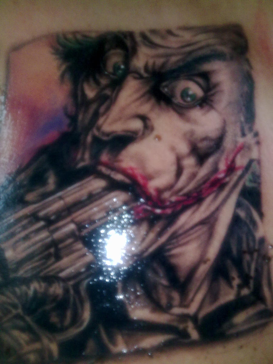 Joker tattoo by nikcann on deviantart for The joker tattoo