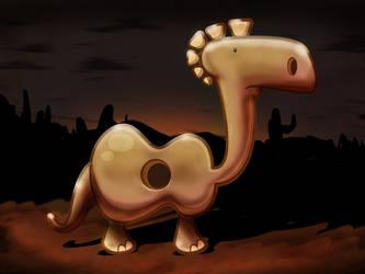 Guitarosaurus by nikcann