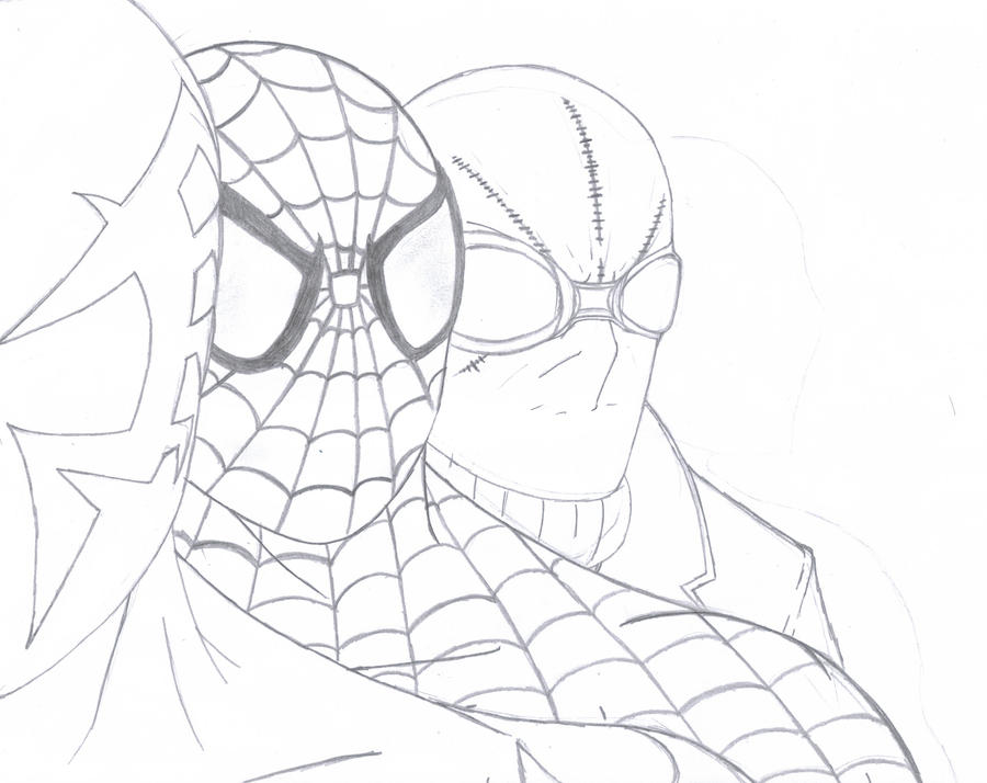 Spider man dimension wip by q2099 on deviantart for Spider man 2099 coloring pages