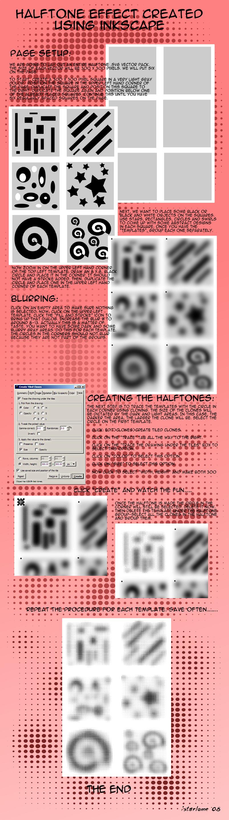 halftone effect in inkscape