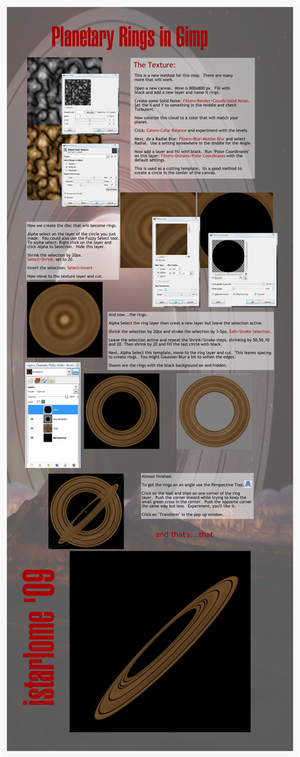 planetary rings using gimp