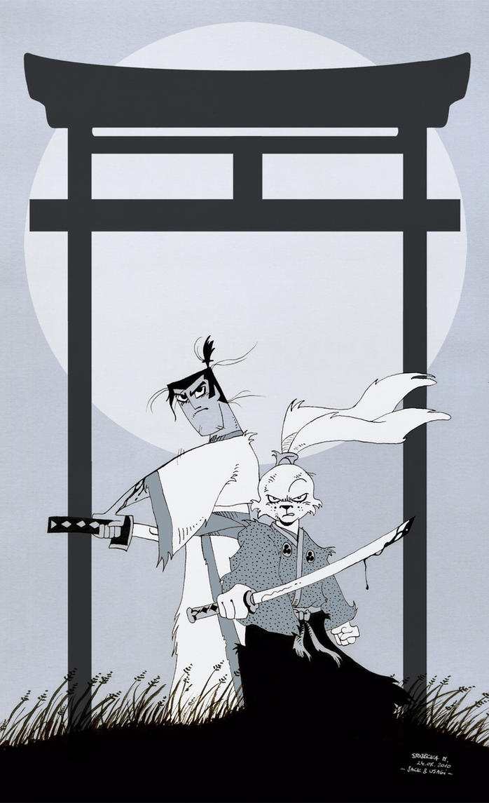 Two samurai by MIHO24