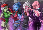 Commission: Halloween Quadruple!!! by ChigoSenpai