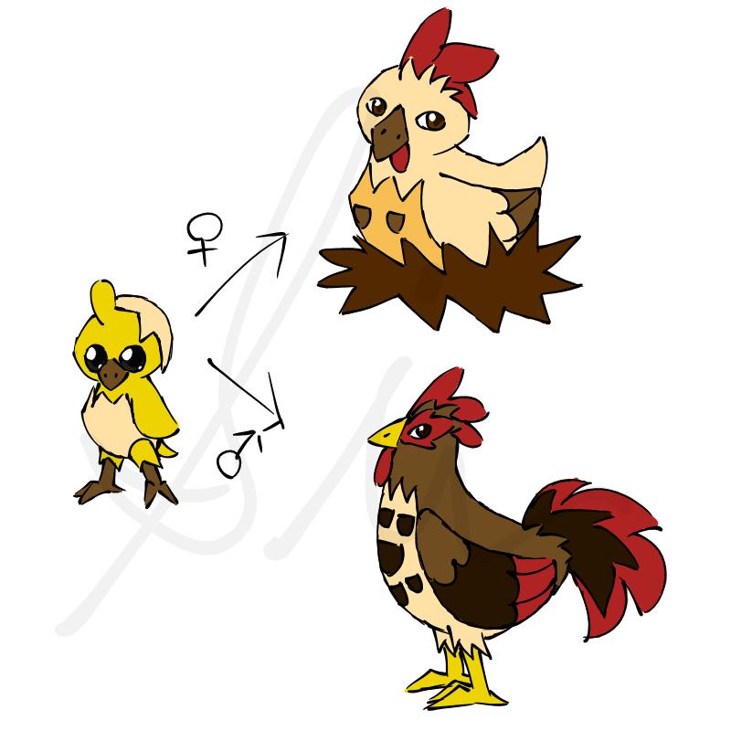 Chicken Rooster Pokemon By SinLigereep On DeviantArt