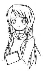 Girl Appearing On Art File...