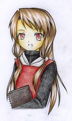 Art File Girl Coloured