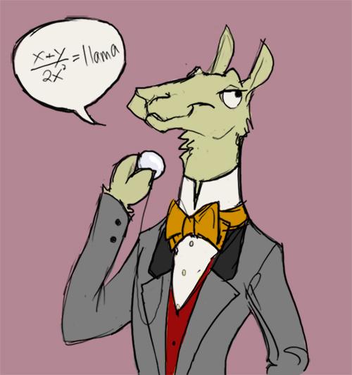 Professor Llama by TwiggyMcBones