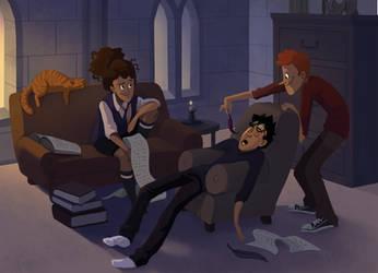 Harry Potter: All Nighter by TwiggyMcBones