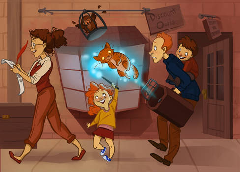The Weasley's at Diagon Alley