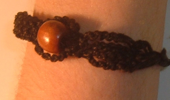 Black Hemp Bracelet by zencat0