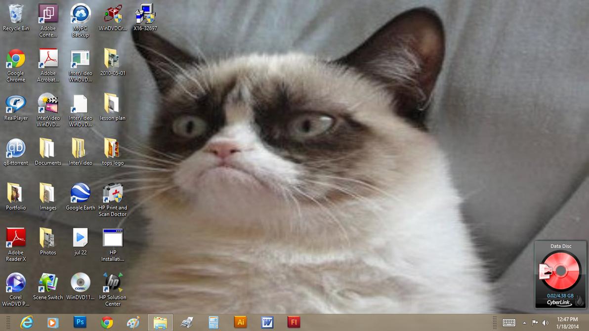 Grumpy Cat Wallpaper by Yeldarb86
