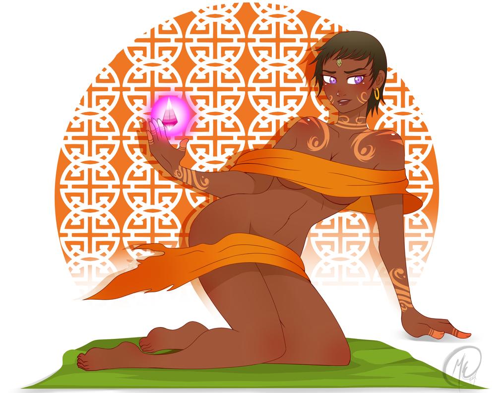 Art prompt week 2 : Einaician Demon by Meeche-Max