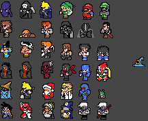 Final Fantasy 3 NES Sprite Fun by Clank-head