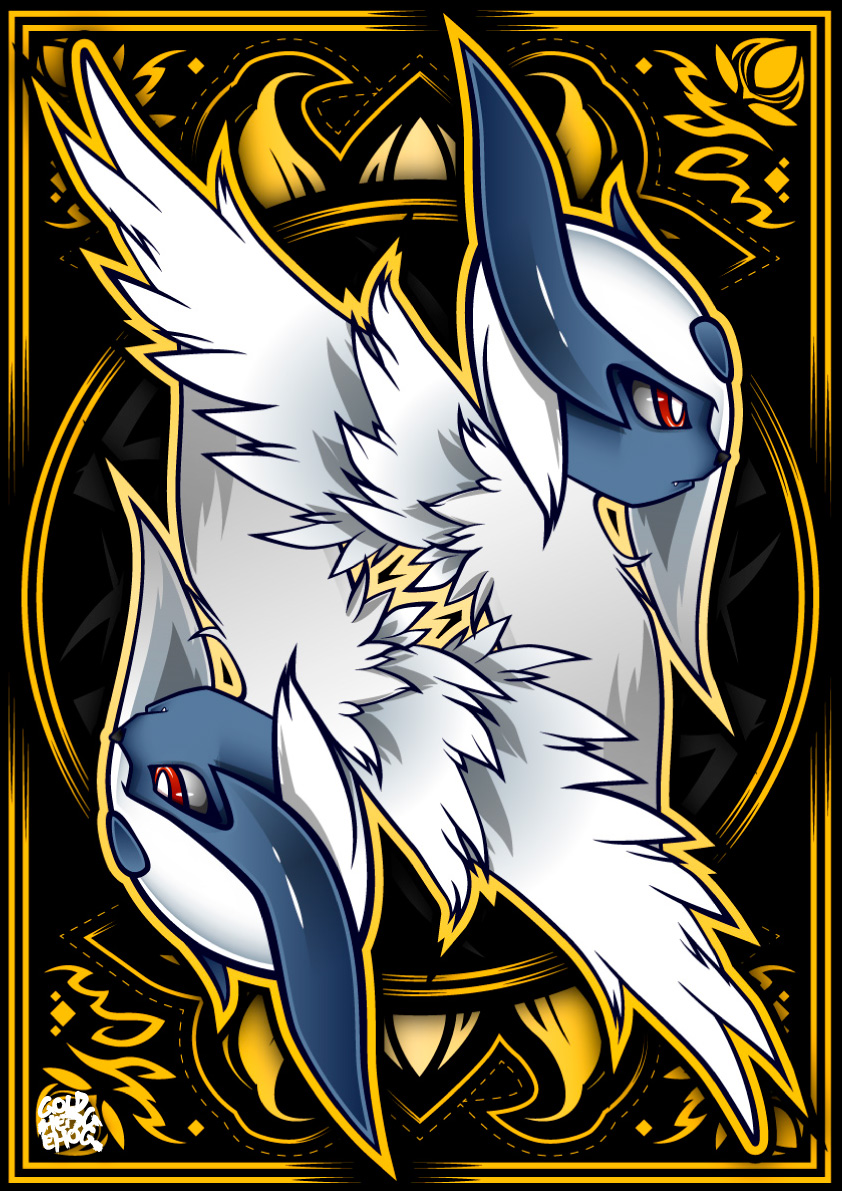 Mega Absol by goldhedgehog