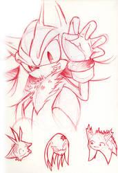 Shadow : 'p433r me' by goldhedgehog