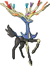 Xerneas Pixel Over by ShiftyCheesecake