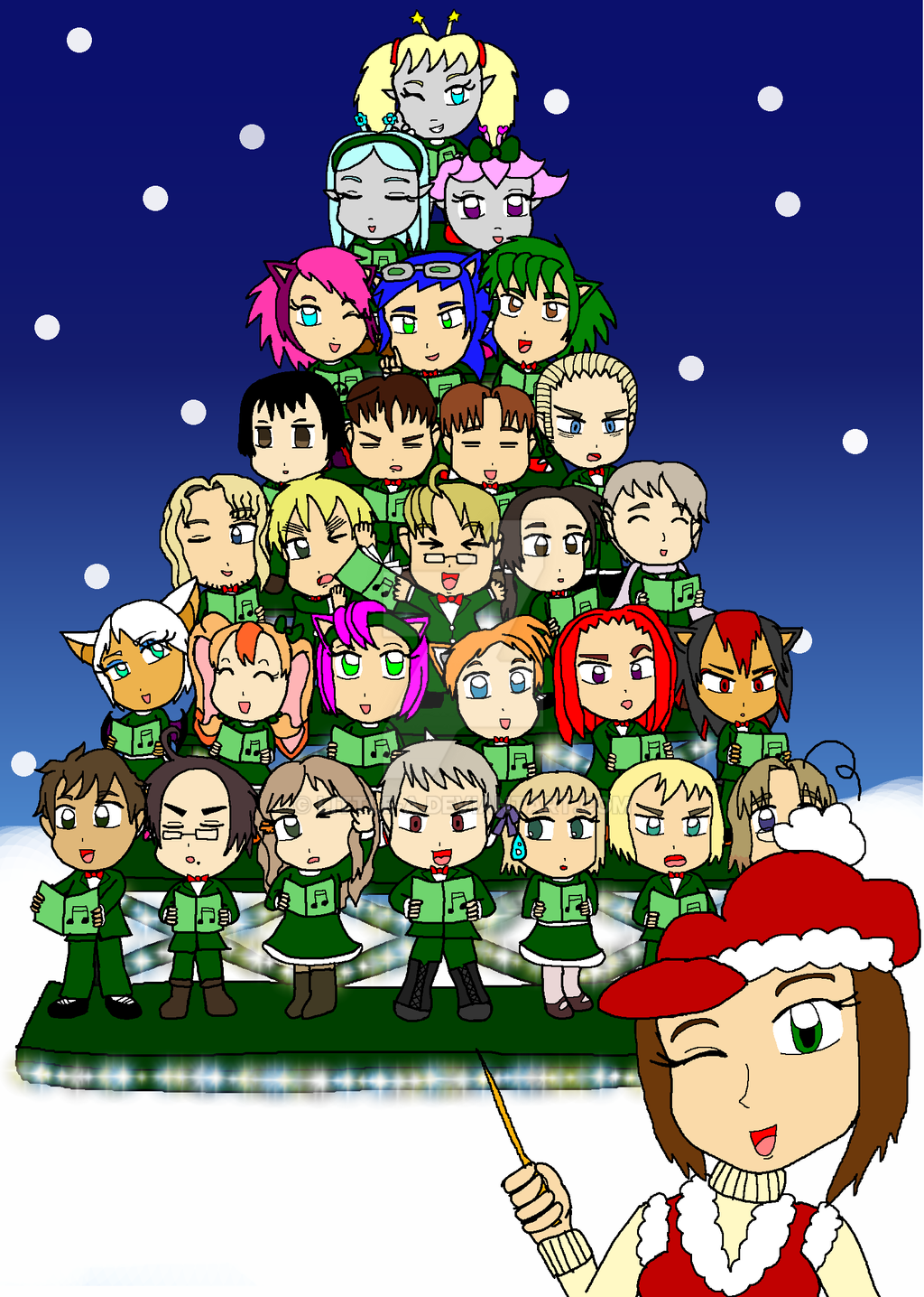2eaf41ca3f62a Singing Chibi Christmas Tree by Little-A on DeviantArt