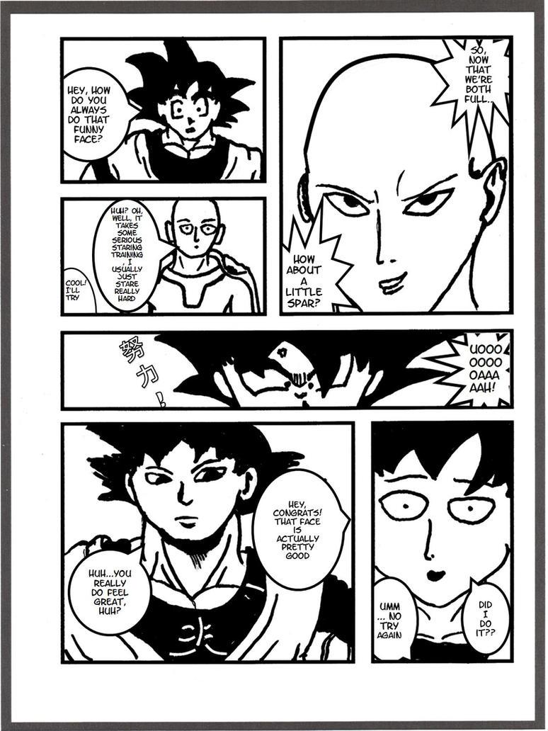 Goku vs Saitama - Serious Staring Training by ...