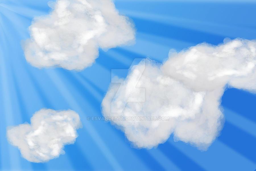 Day Sky: Cloud Practice by Esvandetta