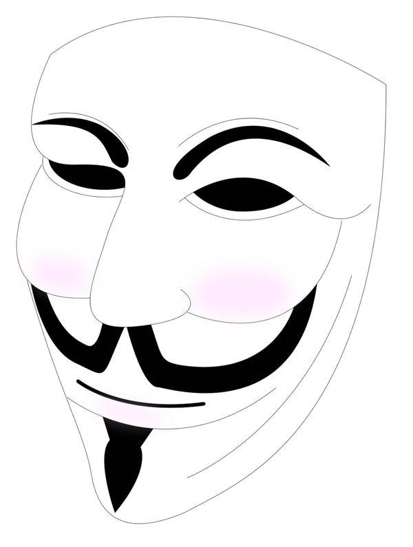 V For Vendetta Mask Vector Guy Fawkes vect...
