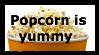 Popcorn Stamp by Ikilledcereal