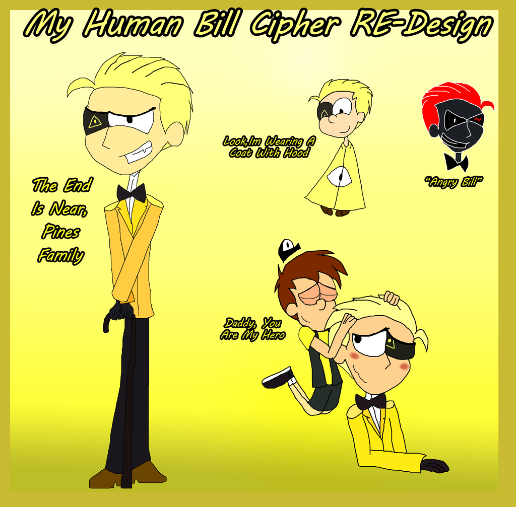 .:. My Human Bill Cipher REDESIGN .:. by Rise-Of-Majora