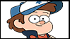 Gravity Falls Stamps : Dipper Pines by VelociPRATTor