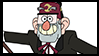 Gravity Falls Stamps : Grunkle Stan by VelociPRATTor