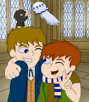 Newt Scamander And His Son by Ammoniteling