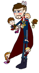MCU : Dr. Strange And The Babies by Ammoniteling
