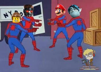 StarLord , Emmet, Barley Lightfoot and Mario