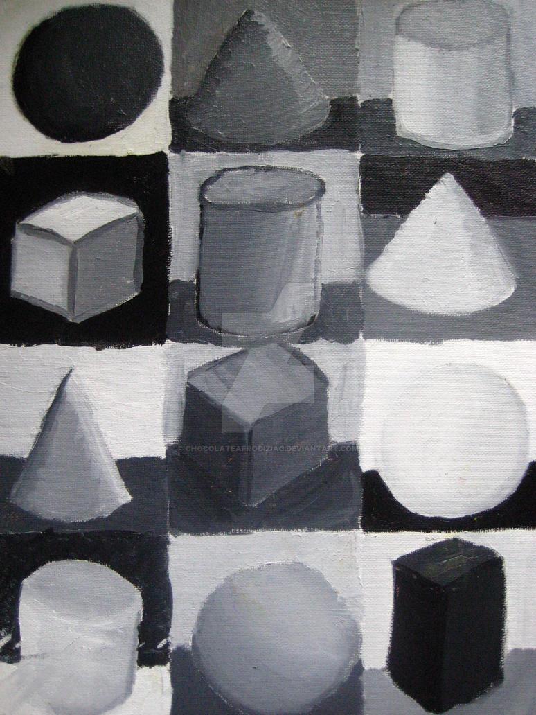 Black and white shapes by chocolateafrodiziac on deviantart for Black and white shapes