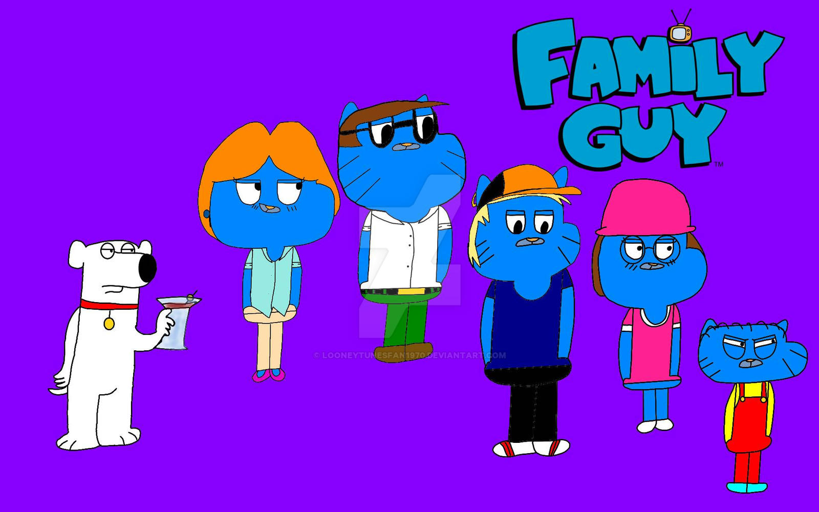 Family Guy Gumball Style 569133324 on tv animal characters