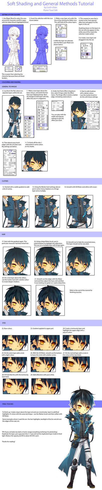 Soft Shading Tutorial via Paint Tool SAI