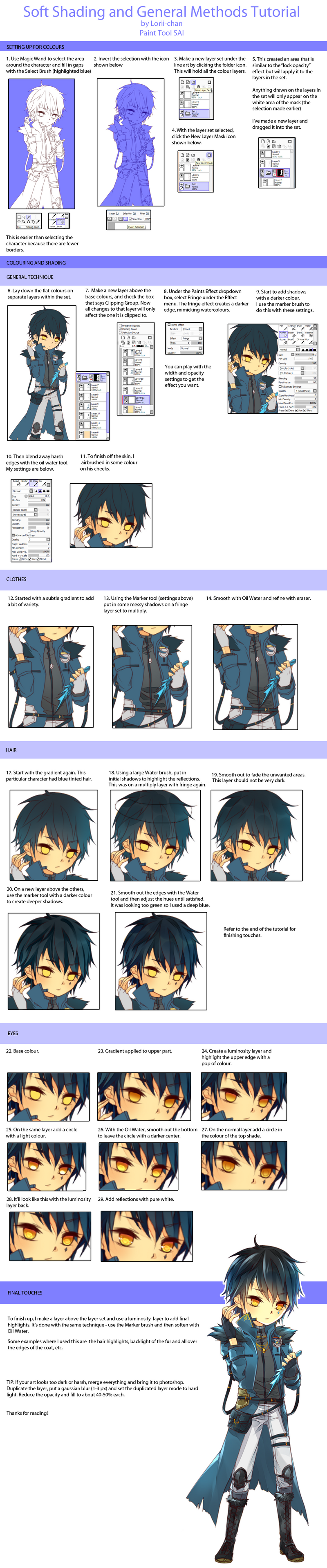 How Shade Using A Layer In Paint Tool Sai