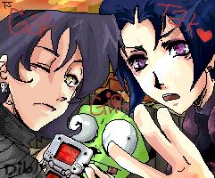 Gaz, Tak, and GIR by Tsuka-sama