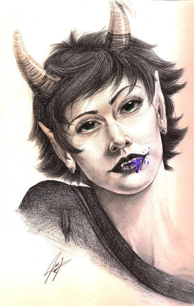 Kanaya Maryam: Rainbow Drinker by vampire-L