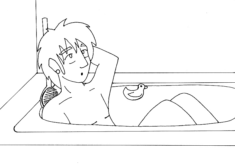 Tlaloc :: Bathtime lineart by YamiKaosu